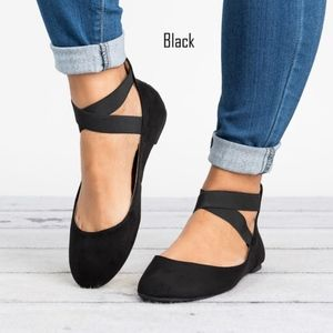 LOUISE Ballet Flats - BLACK